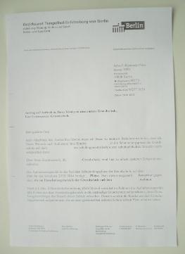 Ablehnung Grundschule Berlin - Ablehnungsbescheid