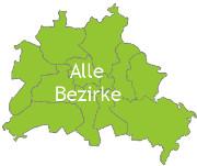 Berlinkarte mit der Aufschrift Alle Bezirke