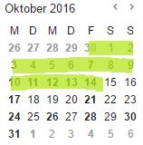 Kalender mit Grundschul-Anmeldezeitraum
