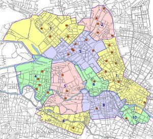 Karte gemeinsame Einschulungsbereiche