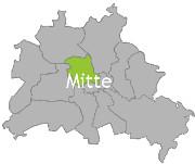 Berlinkarte mit der Aufschrift Mitte