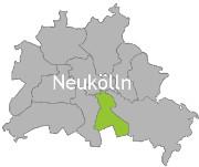 Berlinkarte mit der Aufschrift Neukölln