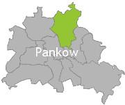 Berlinkarte mit der Aufschrift Pankow