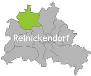 Berlinkarte mit der Aufschrift Reinickendorf