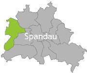 Berlinkarte mit der Aufschrift Spandau