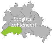 Berlinkarte mit der Aufschrift Steglitz-Zehlendorf