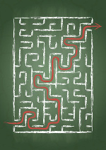 Schule Tafel Labyrinth